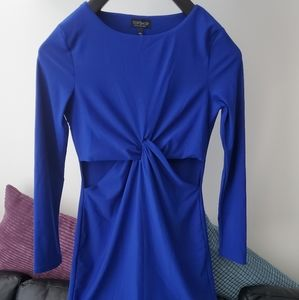 Topshop Royal Blue Cutout Dress